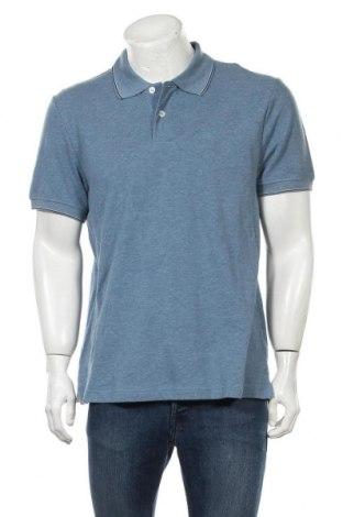 Мъжка тениска JAG, Размер L, Цвят Син, Памук, Цена 33,92лв.