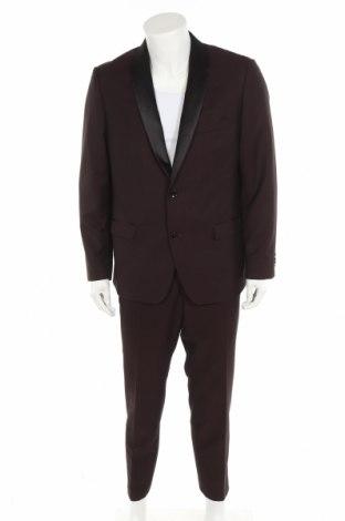 Costum de bărbați Bruno Banani, Mărime L, Culoare Maro, Poliester, viscoză, elastan, Preț 366,35 Lei