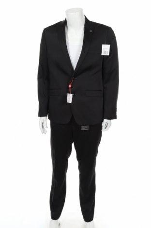 Costum de bărbați Bruno Banani, Mărime L, Culoare Negru, 84% poliester, 14% viscoză, 2% elastan, Preț 368,59 Lei