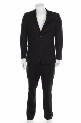Costum de bărbați M Milano, Mărime L, Culoare Negru, 80% poliester, 20% viscoză, Preț 216,02 Lei