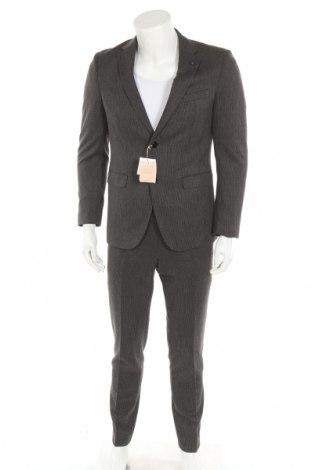 Pánský oblek  Manor, Velikost M, Barva Šedá, 65% polyester, 33% viskóza, 2% elastan, Cena  2057,00Kč