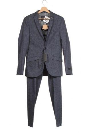 Costum de bărbați Shelby & Sons, Mărime S, Culoare Gri, 60% lână, 40% poliester, Preț 353,78 Lei