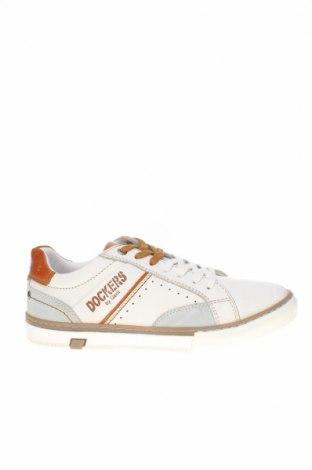 Мъжки обувки Dockers by Gerli, Размер 41, Цвят Бял, Естествена кожа, естествен велур, Цена 61,60лв.
