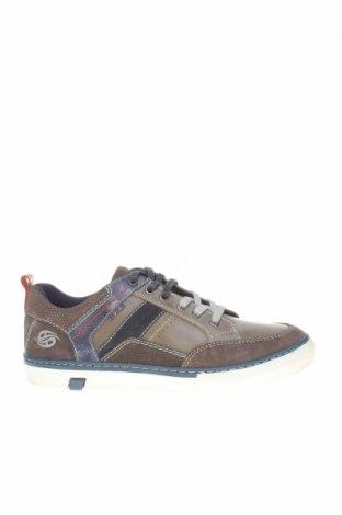 Мъжки обувки Dockers by Gerli, Размер 41, Цвят Сив, Естествена кожа, естествен велур, Цена 48,16лв.