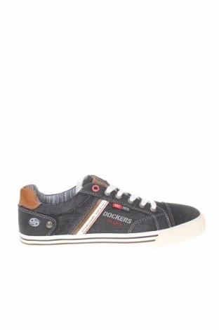Мъжки обувки Dockers by Gerli, Размер 41, Цвят Черен, Текстил, еко кожа, естествен велур, Цена 26,41лв.