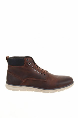 Мъжки обувки Jack & Jones, Размер 44, Цвят Кафяв, Естествена кожа, Цена 65,45лв.