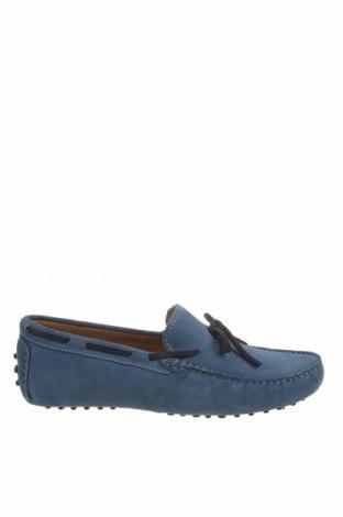 Мъжки обувки John Scott, Размер 42, Цвят Син, Естествен велур, Цена 45,22лв.