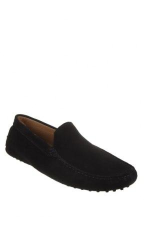 Мъжки обувки John Scott, Размер 42, Цвят Черен, Естествен велур, Цена 65,45лв.