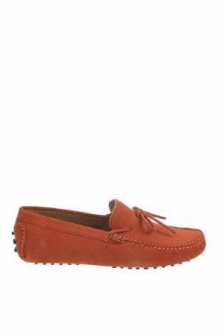 Мъжки обувки John Scott, Размер 42, Цвят Червен, Естествен велур, Цена 38,62лв.
