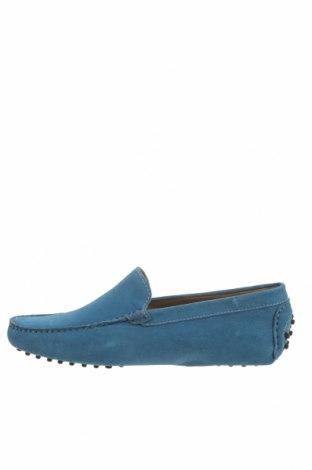Мъжки обувки John Scott, Размер 42, Цвят Син, Естествен велур, Цена 53,55лв.