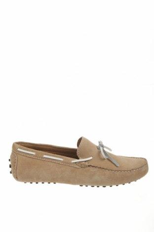 Мъжки обувки John Scott, Размер 42, Цвят Бежов, Естествен велур, Цена 41,70лв.