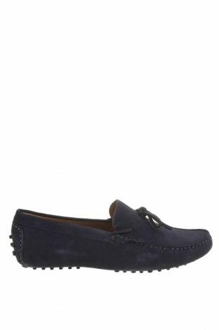 Мъжки обувки John Scott, Размер 42, Цвят Син, Естествен велур, Цена 51,17лв.