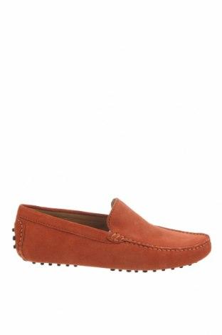 Мъжки обувки John Scott, Размер 42, Цвят Оранжев, Естествен велур, Цена 40,29лв.