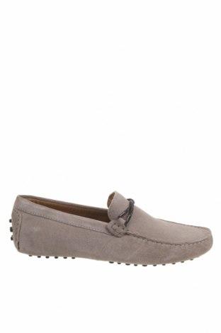 Мъжки обувки John Scott, Размер 42, Цвят Сив, Естествен велур, Цена 41,13лв.