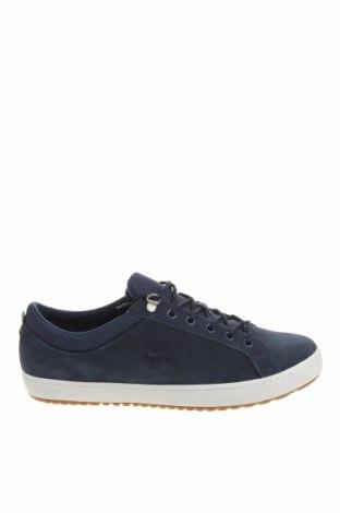 Мъжки обувки Lacoste, Размер 45, Цвят Син, Естествен велур, текстил, Цена 126,75лв.
