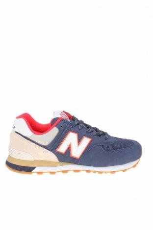 Мъжки обувки New Balance, Размер 42, Цвят Син, Естествен велур, текстил, Цена 134,25лв.