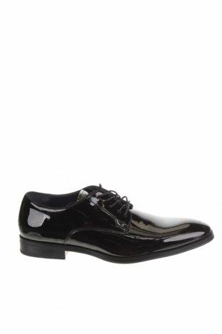 Мъжки обувки Pier One, Размер 44, Цвят Черен, Еко кожа, Цена 42,72лв.