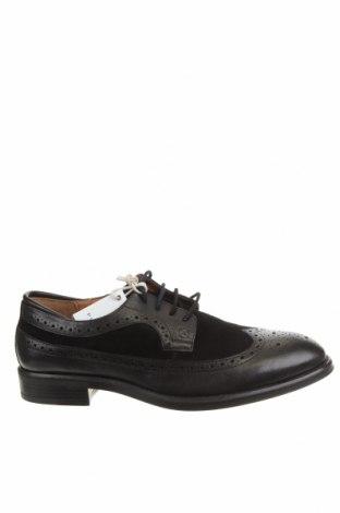Мъжки обувки Polo Club, Размер 43, Цвят Черен, Естествена кожа, естествен велур, Цена 96,75лв.