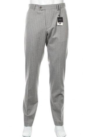 Мъжки панталон PuroEGO, Размер L, Цвят Сив, 63% полиестер, 33% вискоза, 4% еластан, Цена 26,07лв.