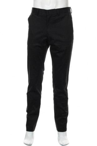 Мъжки панталон Versace for H&M, Размер M, Цвят Черен, 98% памук, 2% еластан, Цена 77,35лв.