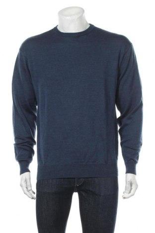 Pánský svetr , Velikost XL, Barva Modrá, Vlna, Cena  407,00Kč