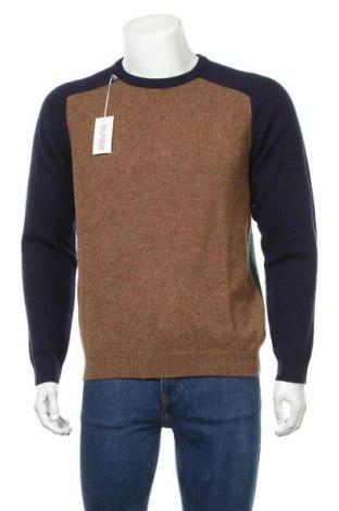 Мъжки пуловер SUN68, Размер L, Цвят Многоцветен, 80% вълна, 20% полиамид, Цена 71,55лв.