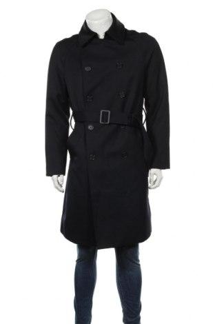 Pánský přechodný kabát  H&M, Velikost L, Barva Modrá, 62% polyester, 38% vlna, Cena  425,00Kč