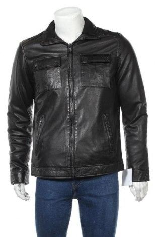 Мъжко кожено яке Pioneer, Размер S, Цвят Черен, Естествена кожа, Цена 216,75лв.