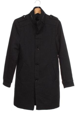 Мъжко палто Lft, Размер S, Цвят Черен, 55% полиестер, 40% памук, 5% вълна, Цена 59,22лв.
