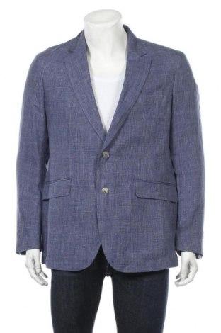 Ανδρικό σακάκι Hackett, Μέγεθος L, Χρώμα Μπλέ, Λινό, Τιμή 33,76€