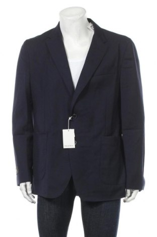 Ανδρικό σακάκι Pedro Del Hierro, Μέγεθος XL, Χρώμα Μπλέ, 65% πολυεστέρας, 35% βαμβάκι, Τιμή 19,20€