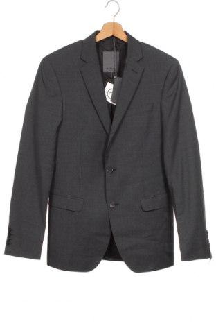 Ανδρικό σακάκι S.Oliver, Μέγεθος M, Χρώμα Γκρί, 100% μαλλί, Τιμή 15,35€