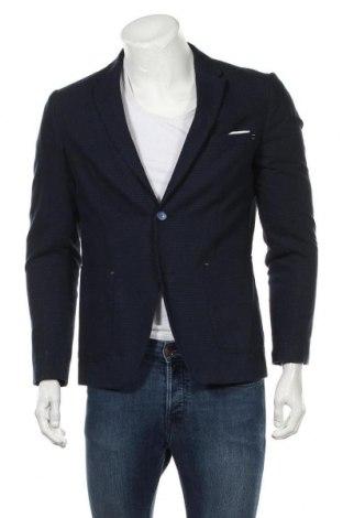 Мъжко сако Zara Man, Размер M, Цвят Син, 52% памук, 48% рамия, Цена 23,21лв.