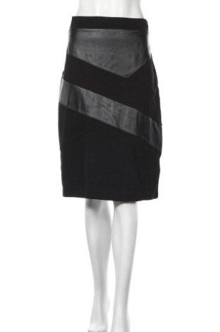 Пола Liz Jordan, Размер L, Цвят Черен, 63% вискоза, 32% полиамид, 5% еластан, еко кожа, Цена 23,94лв.