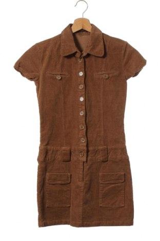 Рокля Jennifer Taylor, Размер XS, Цвят Кафяв, 95% памук, 5% еластан, Цена 8,75лв.