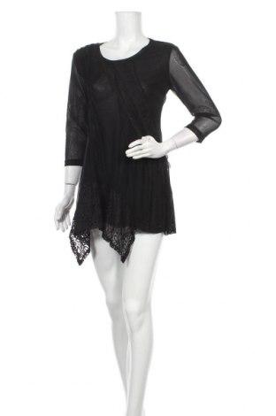 Рокля Lilia, Размер S, Цвят Черен, 65% памук, 35% полиестер, Цена 10,24лв.