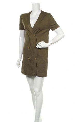 Рокля Zara Trafaluc, Размер S, Цвят Зелен, 52% вискоза, 46% полиестер, 2% еластан, Цена 18,50лв.