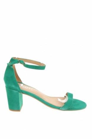 Сандали Pavement, Размер 40, Цвят Зелен, Естествен велур, Цена 38,21лв.