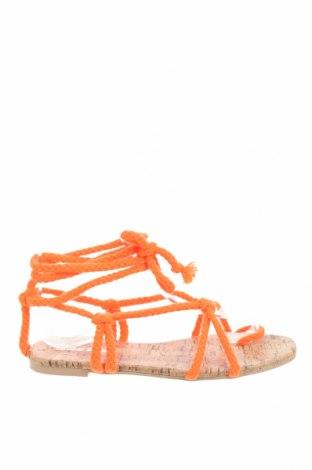 Сандали Public Desire, Размер 36, Цвят Оранжев, Текстил, Цена 23,40лв.