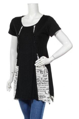 Туника Lilia, Размер S, Цвят Черен, 97% памук, 3% еластан, Цена 21,74лв.