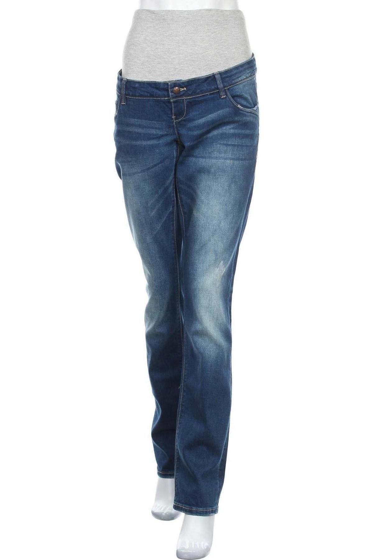 Дънки за бременни Mamalicious, Размер XL, Цвят Син, 99% памук, 1% еластан, Цена 41,56лв.
