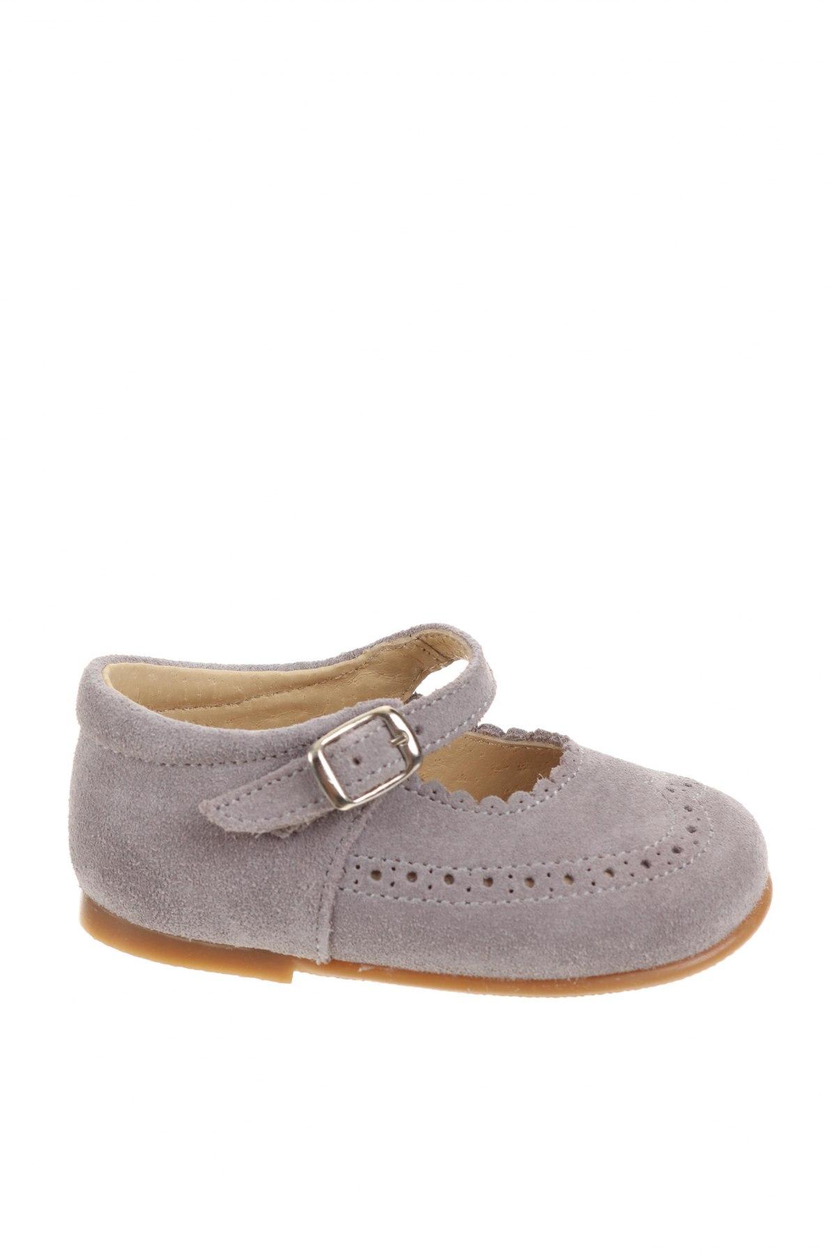 Детски обувки Lola Palacios, Размер 20, Цвят Сив, Естествен велур, Цена 20,47лв.