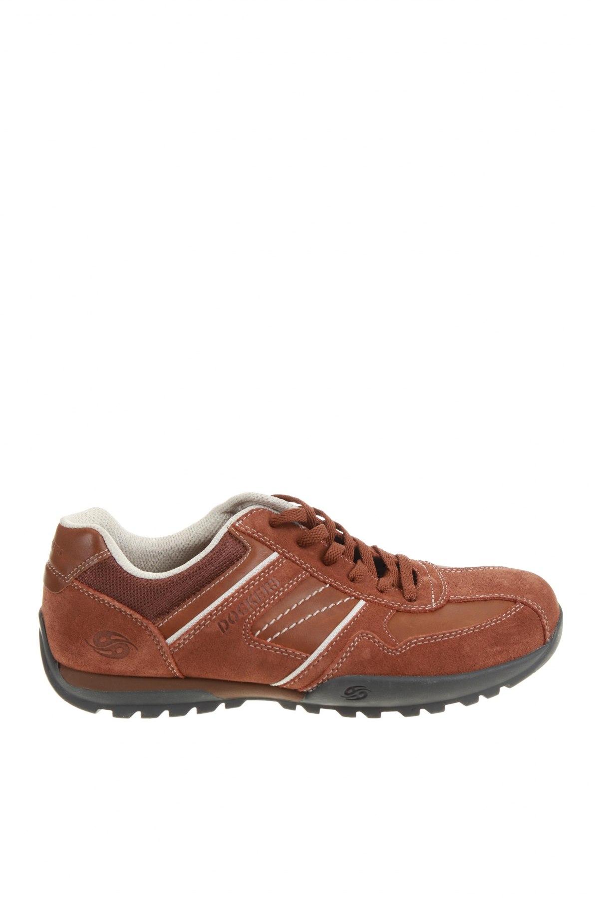 Ανδρικά παπούτσια Dockers by Gerli, Μέγεθος 41, Χρώμα Καφέ, Γνήσιο δέρμα, φυσικό σουέτ, Τιμή 46,01€