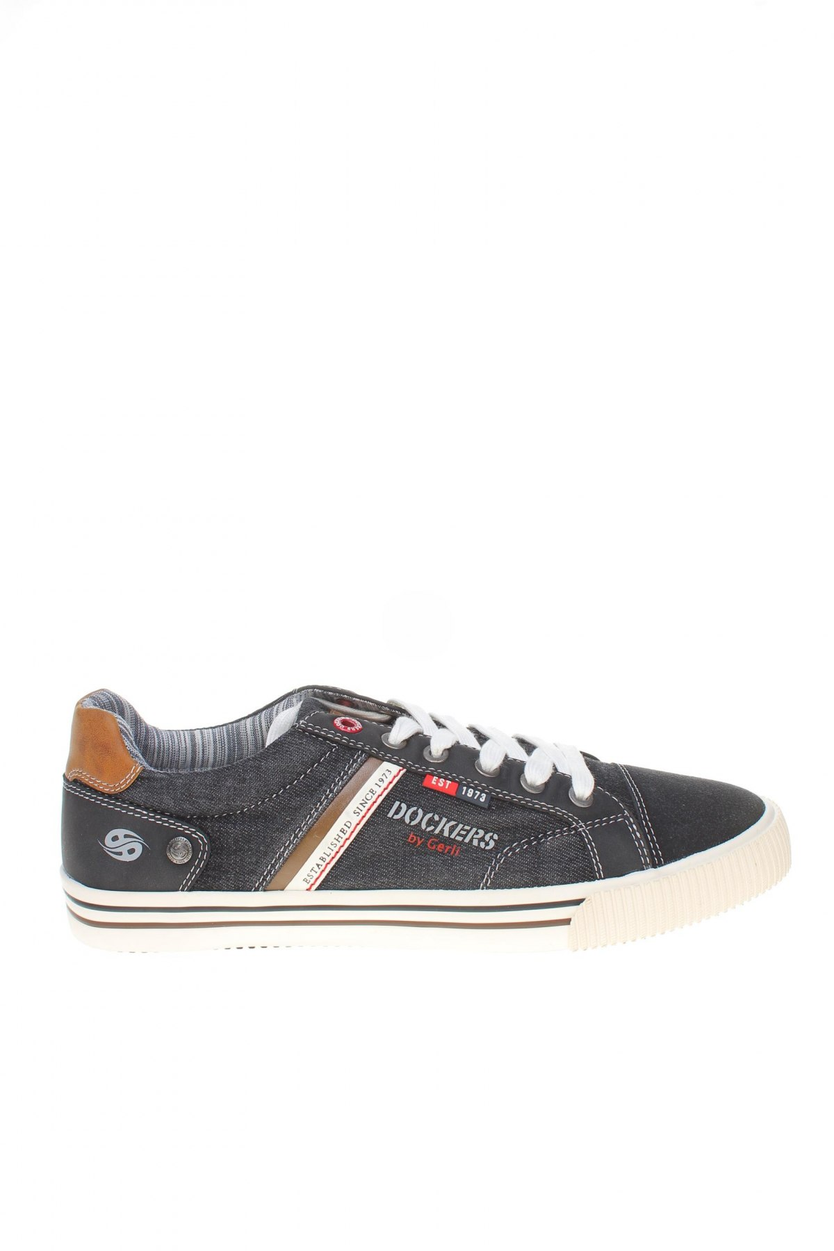 Мъжки обувки Dockers by Gerli, Размер 41, Цвят Черен, Текстил, еко кожа, естествен велур, Цена 37,95лв.