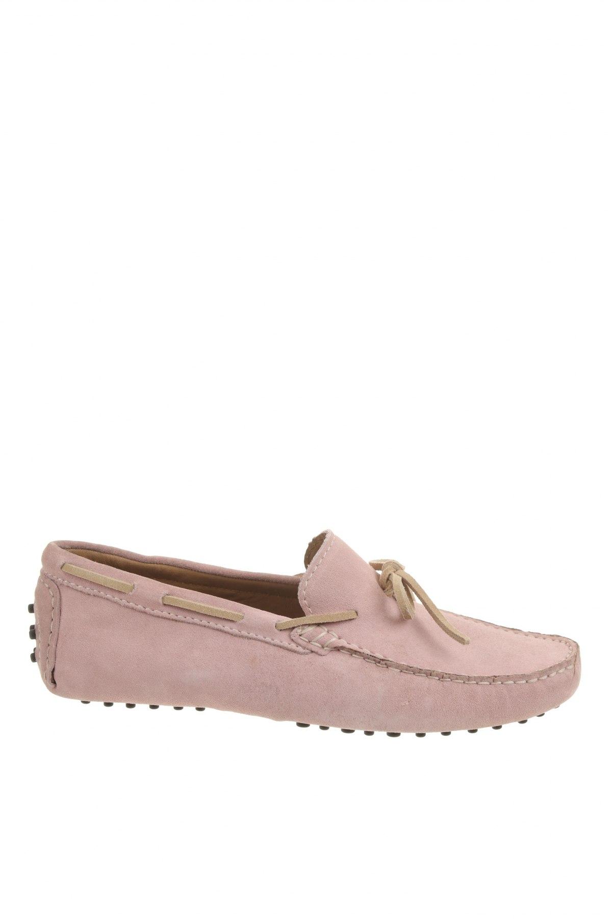 Мъжки обувки John Scott, Размер 42, Цвят Розов, Естествен велур, Цена 53,55лв.