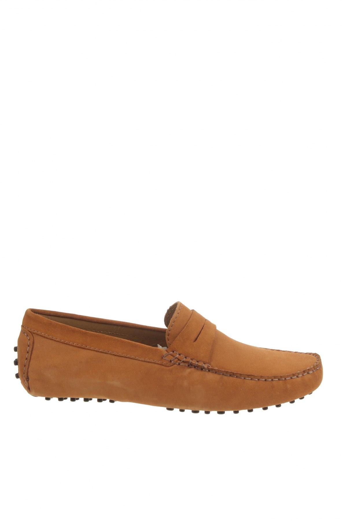 Мъжки обувки John Scott, Размер 42, Цвят Бежов, Естествен велур, Цена 65,45лв.