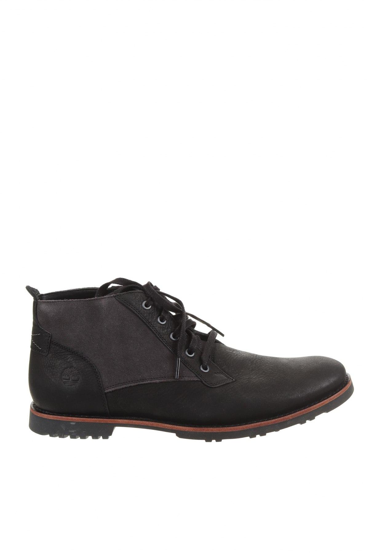 Мъжки обувки Timberland, Размер 44, Цвят Черен, Естествена кожа, естествен велур, Цена 419,00лв.