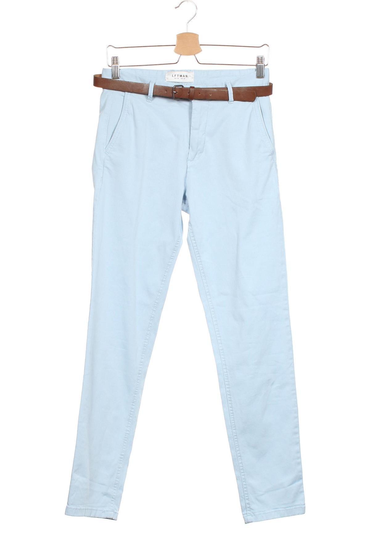 Мъжки панталон Lft, Размер S, Цвят Син, 98% памук, 2% еластан, Цена 22,20лв.