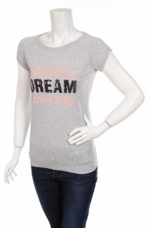 Дамска блуза LCW, Размер XS, Цвят Сив, 48% памук, 47% полиестер, 5% еластан, Цена 6,60лв.