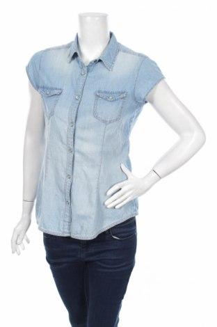 Γυναικείο πουκάμισο Fb Sister, Μέγεθος S, Χρώμα Μπλέ, Βαμβάκι, Τιμή 11,34€